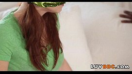 Tiny girl destroyed by massive bbc  0281