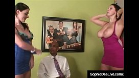 Office Sluts Sophie Dee &amp_ GF Fuck Black Cock Boss!