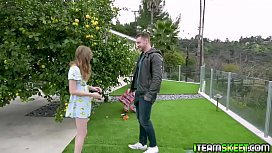 Ava Parker rewards the stud for helping her!