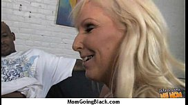 Mature MILF takes on big black cock 27