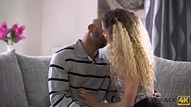 BLACK4K. Blonde wife has spontaneous sex with handsome black man