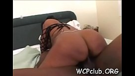 Honey rides up rod feeling it in asshole and bounces on it
