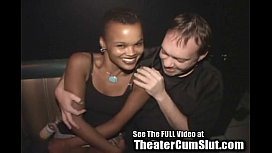 Ebony Wife Tuned Out By Total Strangers In A Tampa Porn Theater.