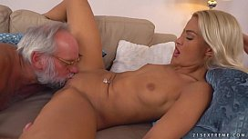 Chary Kiss and her a much older lover - Grandpas Fuck Teens