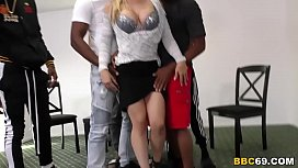 Interracial Group Sex With...