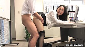 id 10387645: Asian lady shagged by two coworkers in her office