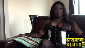 Chubby Ebony girl with...