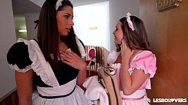 Lesbo Lovers Zafira and...