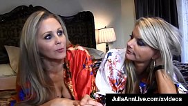 Busty Blonde Bombshells Julia Ann &amp_ Vicky Vette Tongue Fuck!