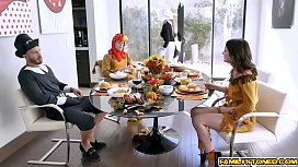 Colossal cocks doggystyle fuck Brooklyn Chase and Rosalyn Sphinx for Thanksgiving!