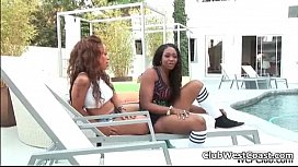 Hot ebony babes get...