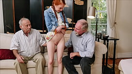 BLUE PILL MEN - Old Men Use Technology To Hook Up With Petite Redhead Teen Dolly Little
