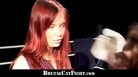 Cat fight and hard...