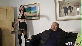 Cumdrenched british MILF gets...