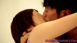 Asian mature squirts from her hairy clit