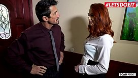 SCAM ANGELS - #Bunny Colby #Lacy Lennon - Old Perv Boss Blackmail Sex With His Secretaries