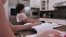 Daughter doesn'_t realize MOM fucking her BF- Melissa Lynn