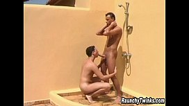Two Hot Guys Shower...