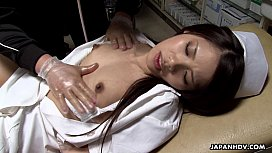 Asian nurse gets to...