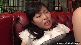 Mika Shindo likes toy insertion and a very intense orgasm