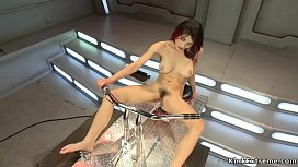 Hairy pussy redhead machine pounded