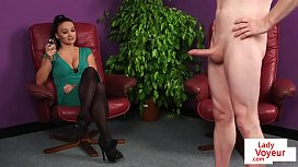 CFNM British babe instructs...