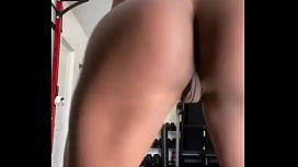 Ebony with a perfect body tweaking naked