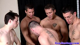 Gaysex hunk assfucked while...