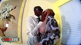 Big black cock for mature blond slut
