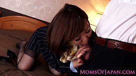 CFNM Japanese milf drilled in tight ass