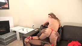 big butt latin milf loves sucking black cock, interracial latina booty cowgirl sex on couch
