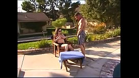 Horny jockstrap bowls from the Pavilion end  gorgeous brunette lady Taylor St. Claire near the pool