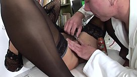 DOCTOR SHAVES AND FUCKS MATURE - sexwhore dirty whore xxx