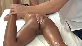 Massaging her young Thai...