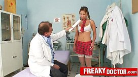 Old pussy doctor treats...