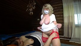 Mature plump nurse fucks with a patient. Lesbian with hairy pussy shakes big tits and fat booty. Amateur fetish games with a strapon.