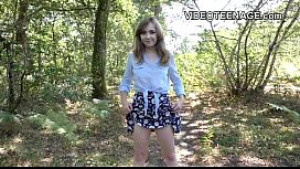 Shy teen first amateur...