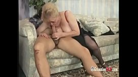 Chubby German Granny Blonde Loves To Ride Big Hard Cock