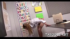 Delightsome blonde delights hard dick in wicked swinging party