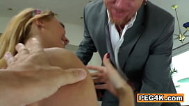 HOT kinky CHICK fucking BIG dude with LARGE strapon
