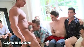 GAYWIRE - Sausage Party Orgy...