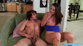 Amateur brunette drilled with...