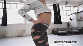 Ass shaking oiled Latina...
