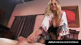 Mature Mommy Julia Ann Mounts Young Boy Toy'_s Eager Face