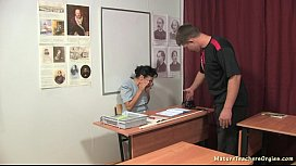 Russian mature teacher 13...
