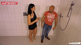 LETSDOEIT - German Wife Fucks the Plumber With Hubbie At Work