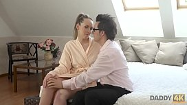 DADDY4K. Well-shaped teen was ideal sexual target for BF'_s horny dad