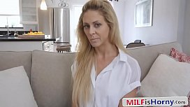 Sexy Stepmom Blackmailed Into...
