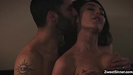 Hot married couple Christiana Cinn and Damon Dice decided to start a sensual fuck and ends with a huge explosion of cum all over Christianas face.