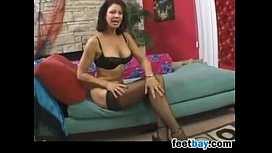 MILF Wearing Stockings Having...